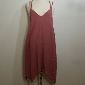 Tobi Pink Braided Strappy High-Low Sundress Small